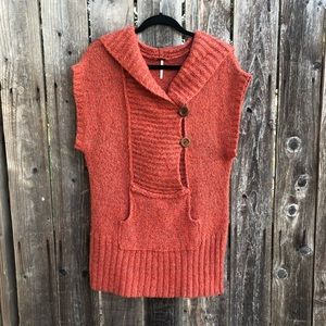 Free People • short sleeve orange sweater